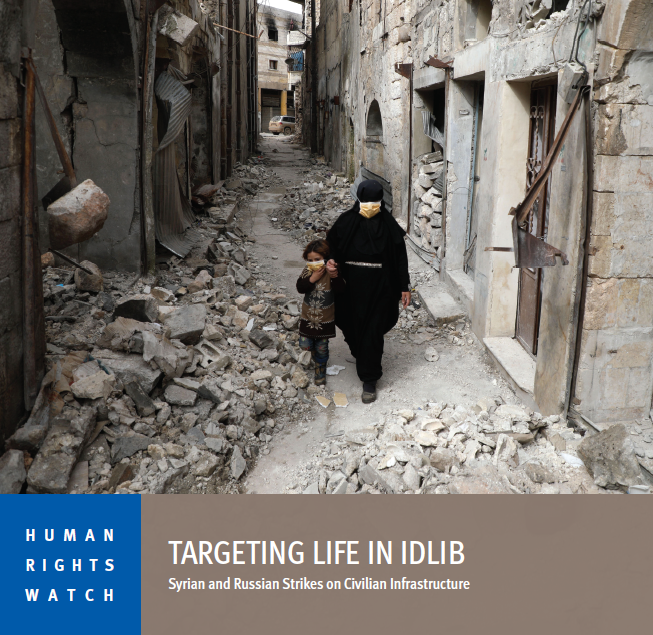 Targeting Life in Idlib New report on attacks by Syrian & Russian armed forces against civilian infrastructure in northwest Syria, apparent war crimes that may amount to crimes against humanity, out now: trib.al/XHO5YDh #JusticeMatters #Syria
