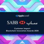 Image for the Tweet beginning: At #RippleSwell @SABBBank awarded #BlockchainInnovationAwards