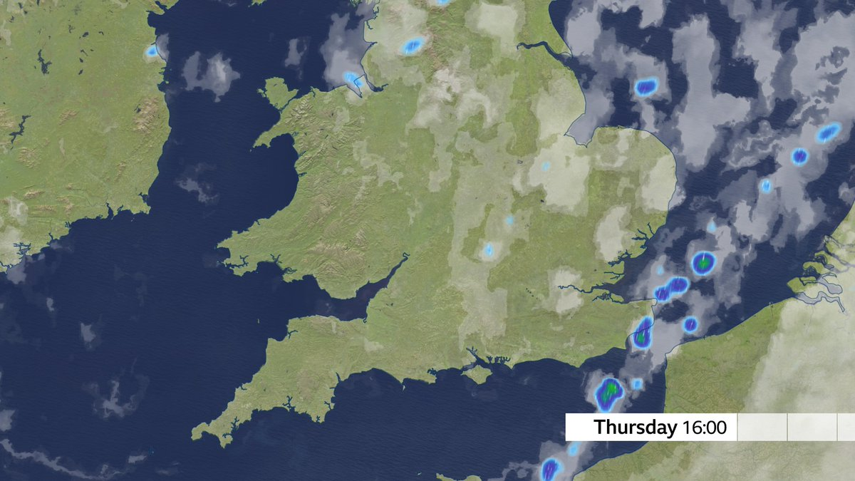 Some heavy showers today across parts of Kent and the Channel Islands in particular @BBCbreakfast xxx