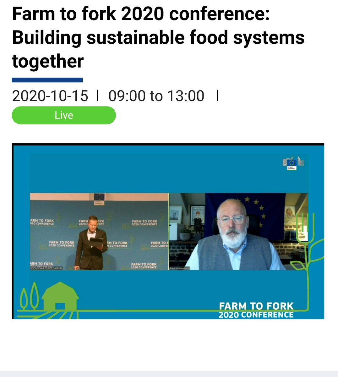 👏 @TimmermansEU crystal clear on closing the gap between #urban & #rural areas. Sustainability depends on this interoperability.  #ConsumerCoops are prime enablers of #rural #revitalisation due to our #distinct #model. #local #sustainable #PeopleFirst  #EUGreenDeal #EUFarm2Fork https://t.co/DgfjYdOria