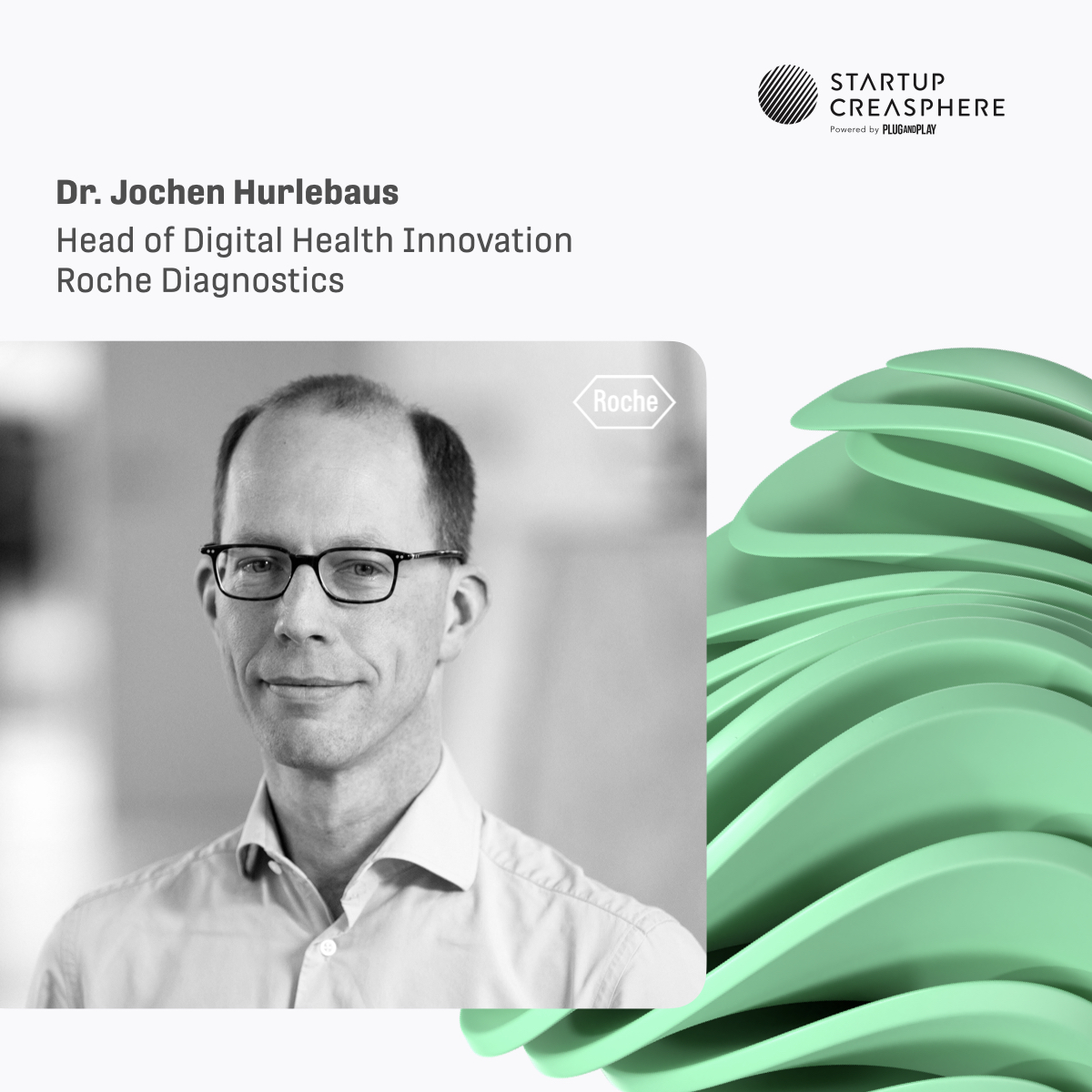 Meet Dr. @HurlebausJochen – Head of Digital Health Innovation at @RocheDia and one of the program initiators of @StrtpCreasphere – at our upcoming #Batch5 #KickOffDay! 🎤  Register for Oct 21 ⇢ https://t.co/TBHw6uzkxp  #startupcreasphere #corporatespeaker #programinitiator https://t.co/4HYvYyur83