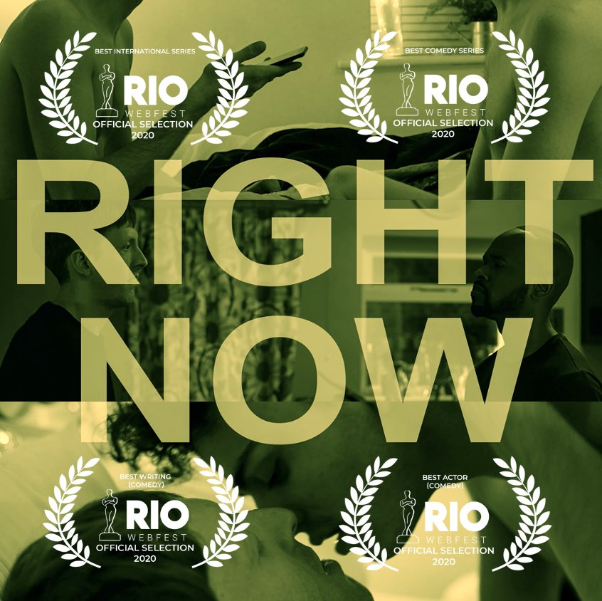 We are all incredibly proud of @robertcawsey , whose web series 'RIGHT NOW' has been nominated for numerous awards at both @RioWebFest and @NYCwebfest Congrats Rob, and good luck! 👏👏👏