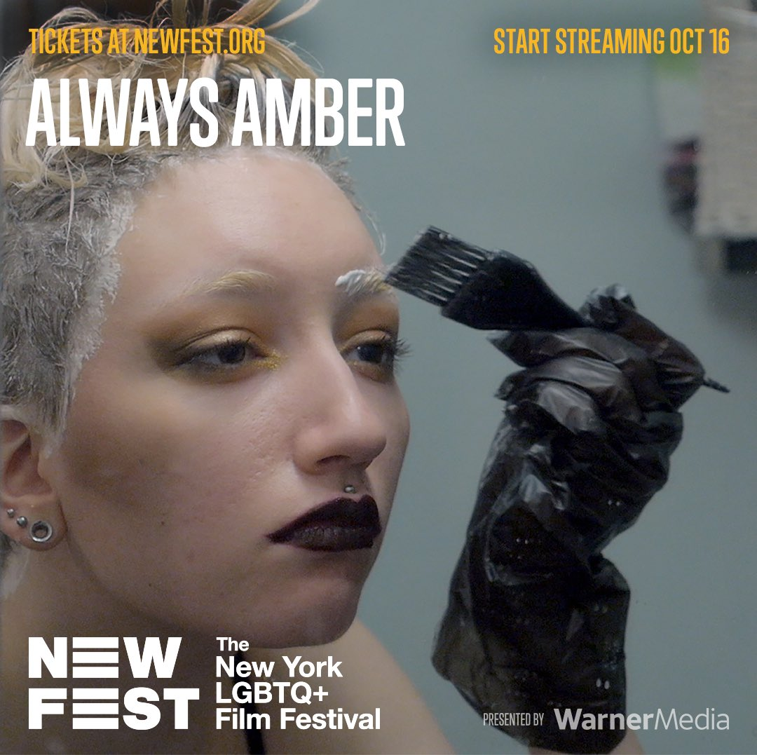 🌟STARTING TOMORROW 10/16🌟  Join GFP and @NewFestNYC for the virtual screening of #ALWAYSAMBER, a unique and fascinating look at genderqueer Amber.  Get your Festival Pass + tickets with the discount code: ACKERMAN20.  ➡️ TICKETS: https://t.co/TsNEf3xNG6  #Newfest #GFP https://t.co/CmwUzgKQC8