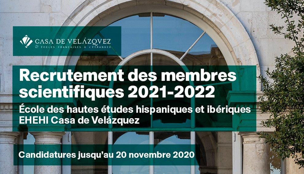 🔃🆙RAPPEL📣#Candidatures #EHEHI  ➡️RECRUTEMENT des #membres à l'École des hautes études hispaniques et ibériques pour l'année 2021-2022  📅🕔Jusqu'au vendredi 20 novembre 2020- 13h (heure de Madrid) 🌐https://t.co/J2EQcAdcuM  #12mois #17postes #Doctorants #Postdoctorants #SHS https://t.co/07Hi2VLSOC