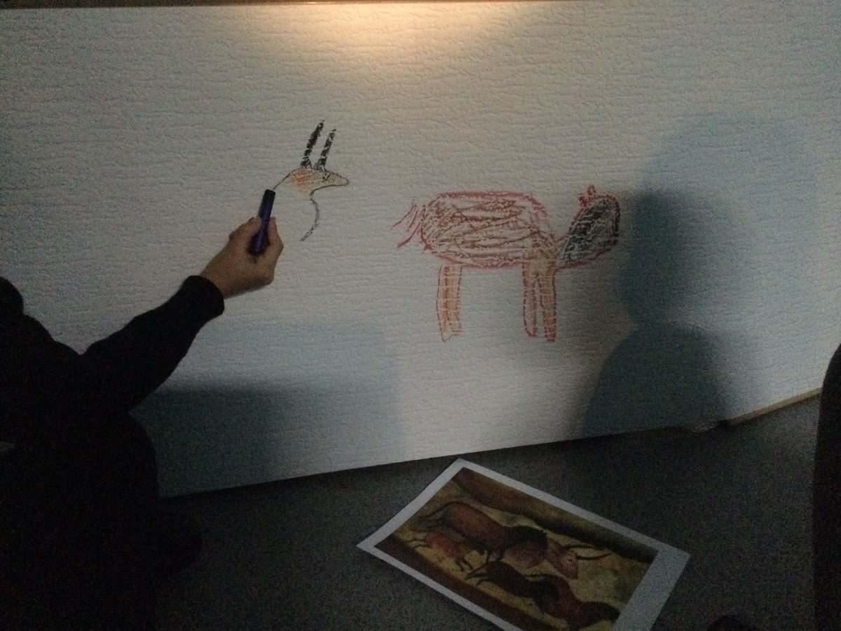 test Twitter Media - I got a bit of a shock walking into the Year 3 classroom!  Cave drawings everywhere!  We have some very talented artists who managed to draw some amazing pictures in a gloomy dark cave! https://t.co/H8oZ4DNFYO
