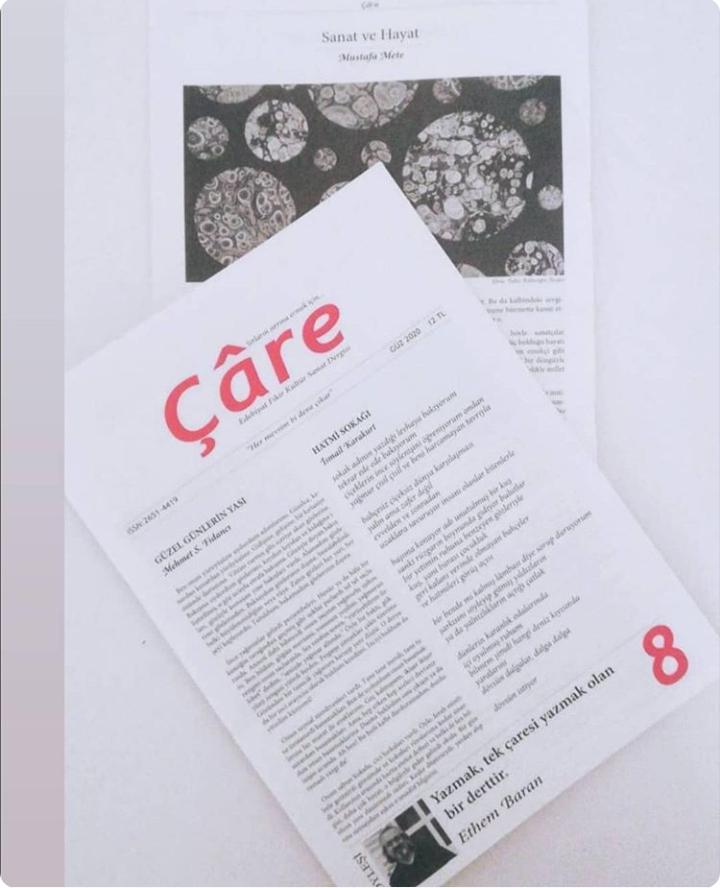 """""""8. Çare!"""" başlıklı haberimizi linke tıklayarak okuyabilirsiniz. #ethembaran #sanat #dergi #aliayçil #edebiyat #çaredergisi #talatözer #mehmetfidancı https://t.co/8befEpDWUu https://t.co/J5xBMprhsv"""