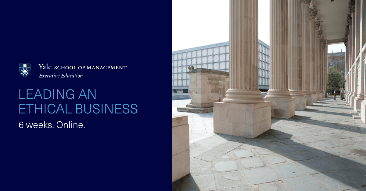 Translate ethics into business. Respond to the demand for higher accountability in the workplace in this new online program from @YaleSOMExecEd. https://t.co/XIlzY6Ls0s https://t.co/Nwl9QJJ0XQ