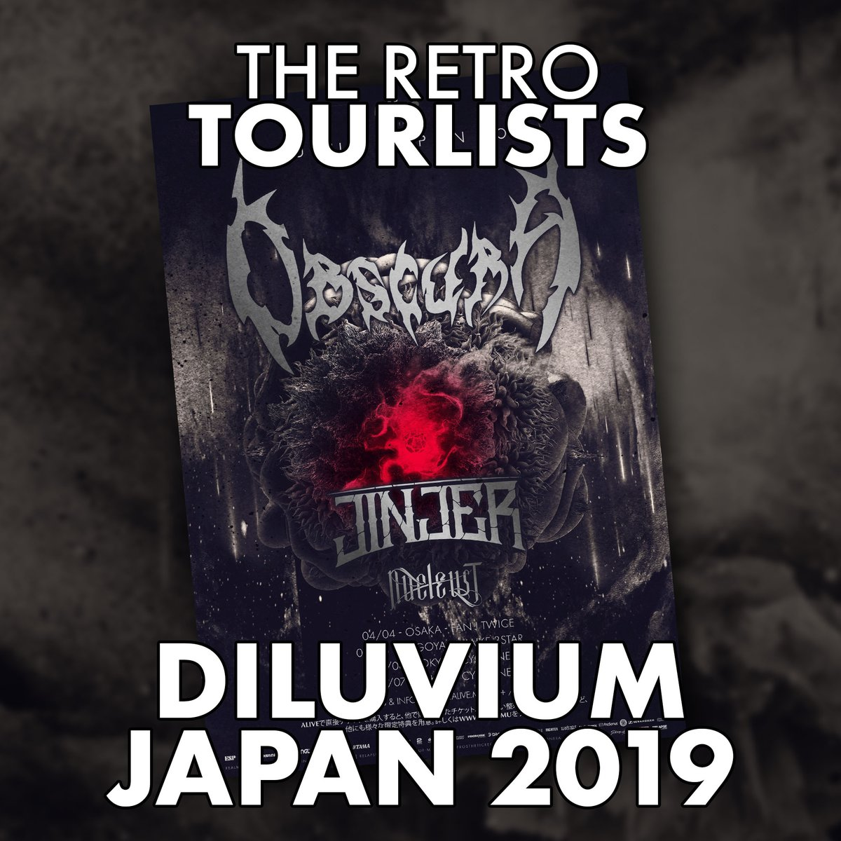 New playlist on Spotity!  Join us on a throwback to the DILUVIUM JAPAN 2019 tour with Jinjer and Mason. Enjoy 29 songs from this tour line-up here: https://t.co/Ka5pl6z4Y7  #obscura #jinjer #mason https://t.co/HCaG9UwgNX