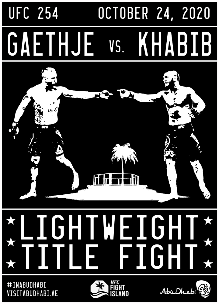 RT my poster design for KHABIB vs GAETHJE & get your name entered to WIN A FREE T-SHIRT from my shop! Winner will be picked Sunday, OCT 25th & can choose any design they like. Good Luck & Enjoy the Fight! https://t.co/yEuIh09DoL