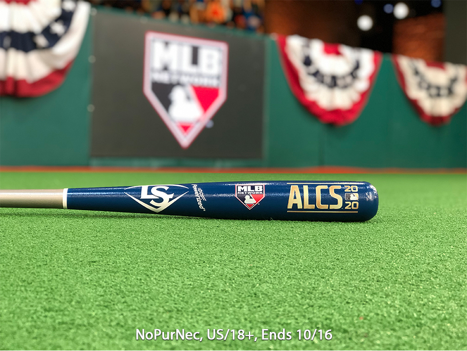 Game 5 of the ALCS is coming up!   RETWEET for a chance at this @sluggernation ALCS bat and tune in to #MLBTonight right now for pregame coverage!   Rules in bio.