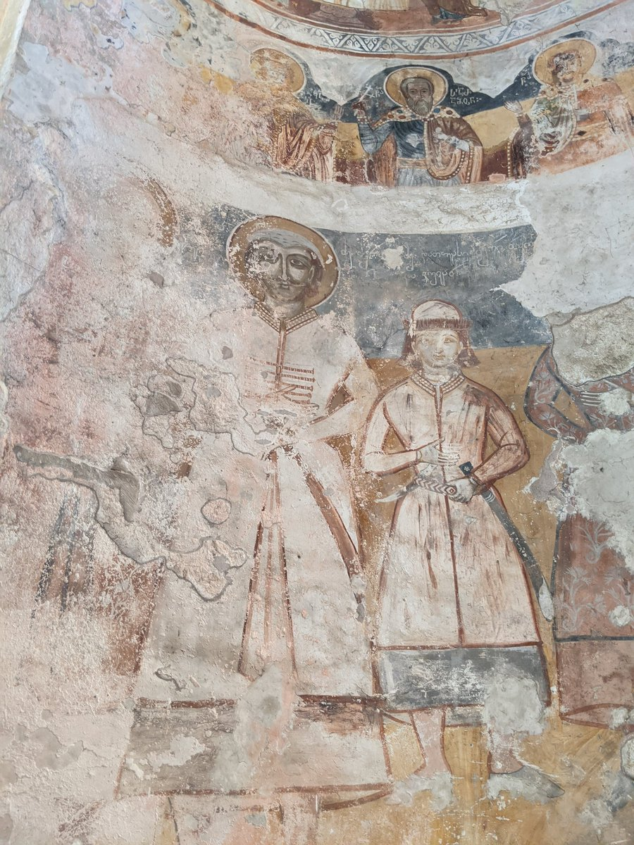 The Nikortsminda cathedral, built between 1010-1014 contains frescos from the 17th century  I'ma say for sure a top 10, maybe even top 5 church in Georgia. https://t.co/3vpEM0egG5