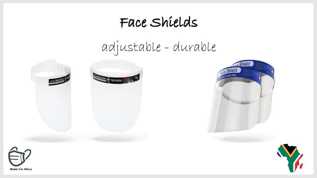 Face Shields  * adjustable * durable * MOQ applies * From R17-70 incl.  #MasksForAfrica #PPE #faceshields #faceshieldandfacemask #faceshieldsforall #healthcare #health #Medicare #ppesupplies #ppeproducts #ppeshortage #SouthAfrica #COVID19 https://t.co/72AOGhYtOL