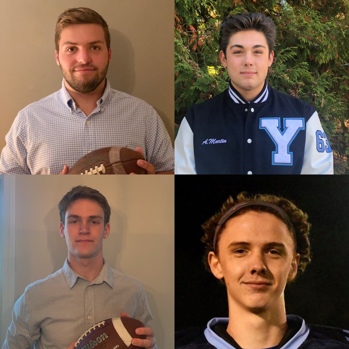 test Twitter Media - Let's celebrate the 2020 Football Captains: Aidan Martin, Connor Daley, Evan Bourgoine and Teagan Hynes! This senior class  led York to the Class C South Finals  in 2019 for the 1st time since 2014!Thank you for your leadership on and off the field! @YHSWildcats @football_york https://t.co/HZKm5aKk1B