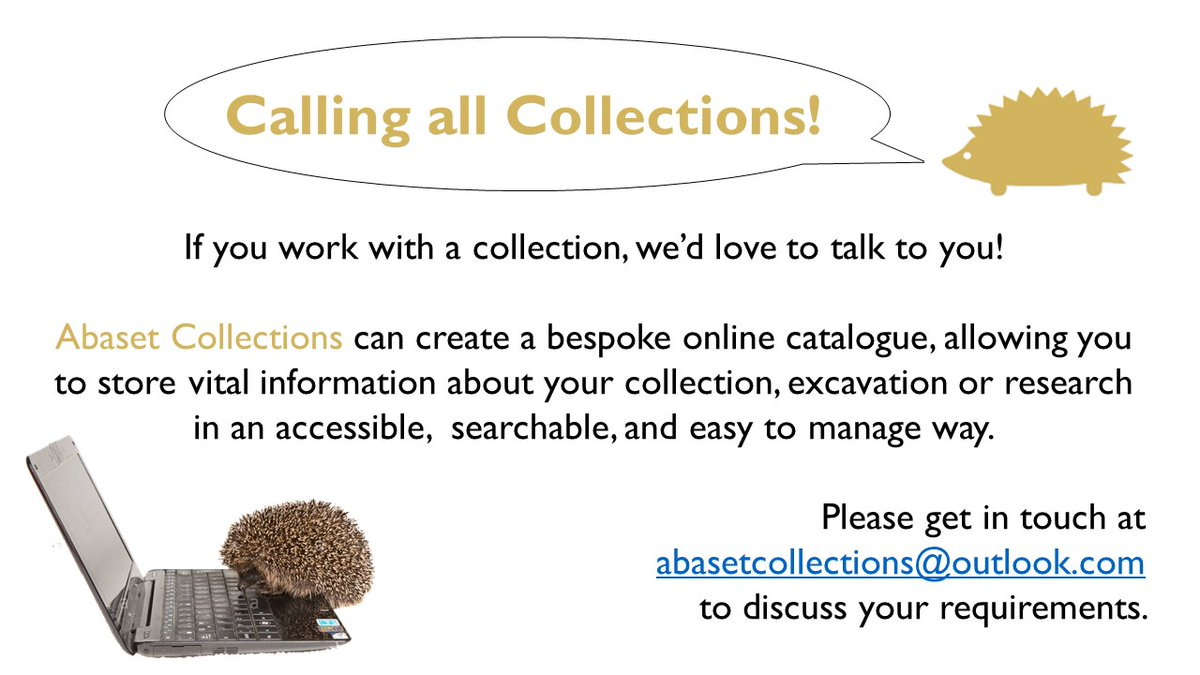 Can you believe it's been a week since we launched the Egypt Centre Online Collection? Please keep the feedback coming!  We're also looking to expand the Abaset family - if you would like a quote for creating your very own virtual collection, please do get in touch! https://t.co/Ce2vn8kCnu
