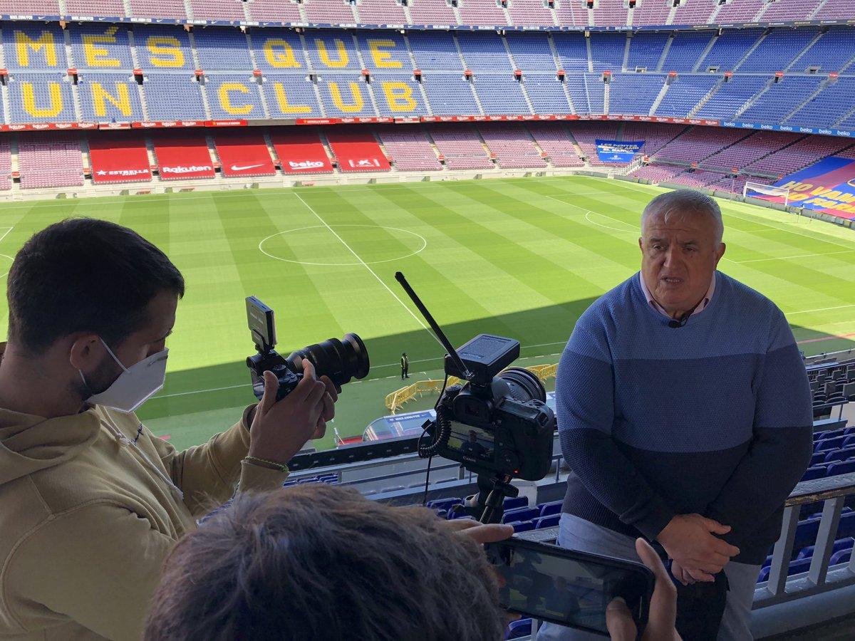 🎥Shooting Day #IniestaTV  📍Camp Nou - Barcelona