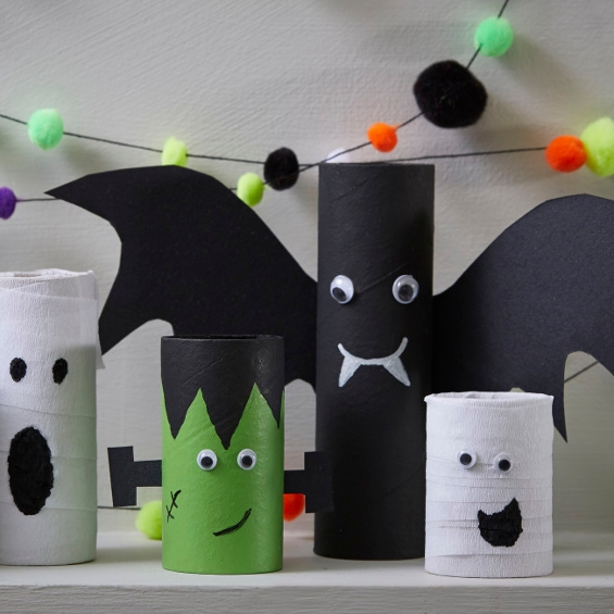 As Halloween inches ever closer, why not put your spare cardboard tubes to use and make these quick characters to decorate your home?  The perfect activity for the little ones to enjoy!  Follow the tutorial: https://t.co/4E205Pm8sz  #Halloween #HalloweenCrafts #Hobbycraft https://t.co/ZBcM1HQc6G