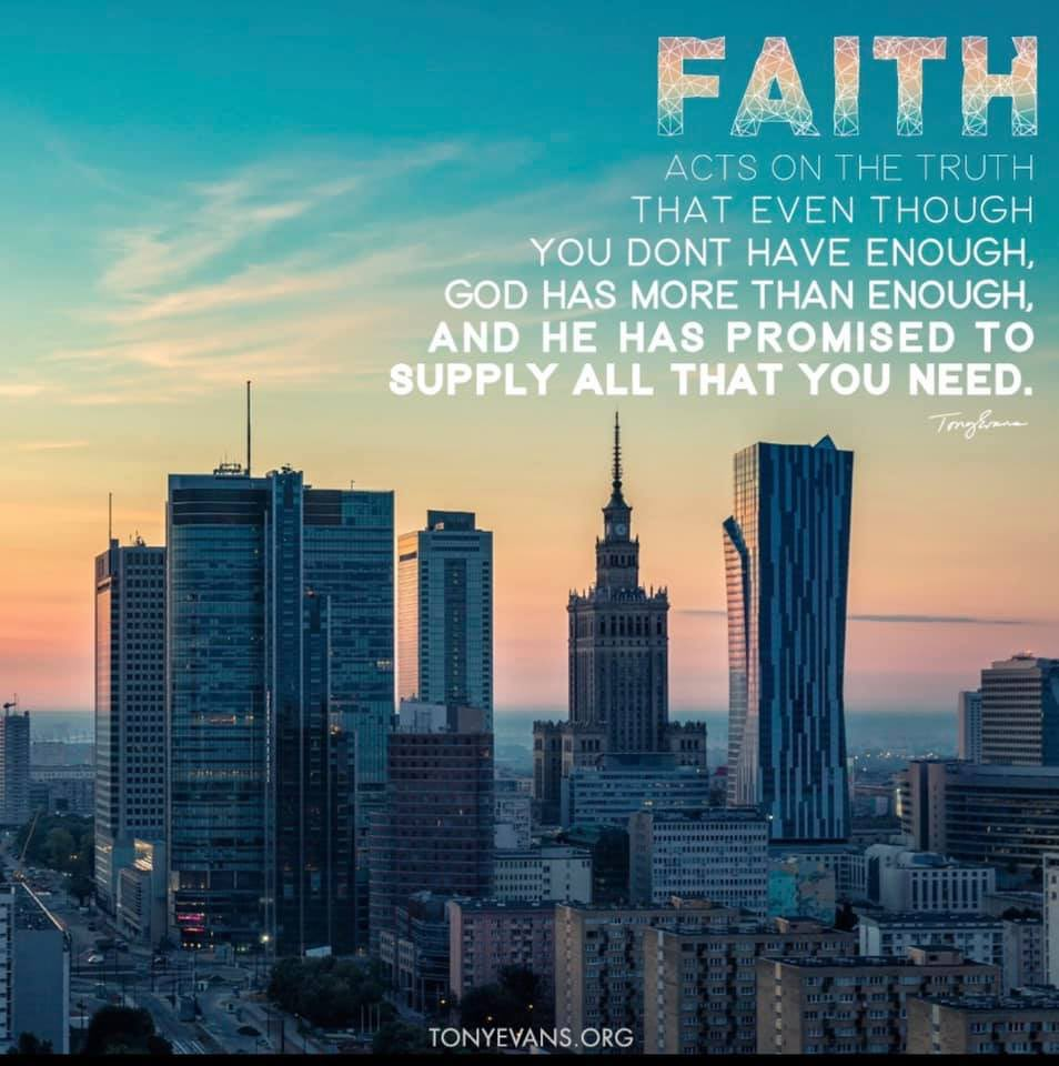 FAITH.   This word has been heavy on my mind this week @drtonyevans https://t.co/A3PfaLbarB
