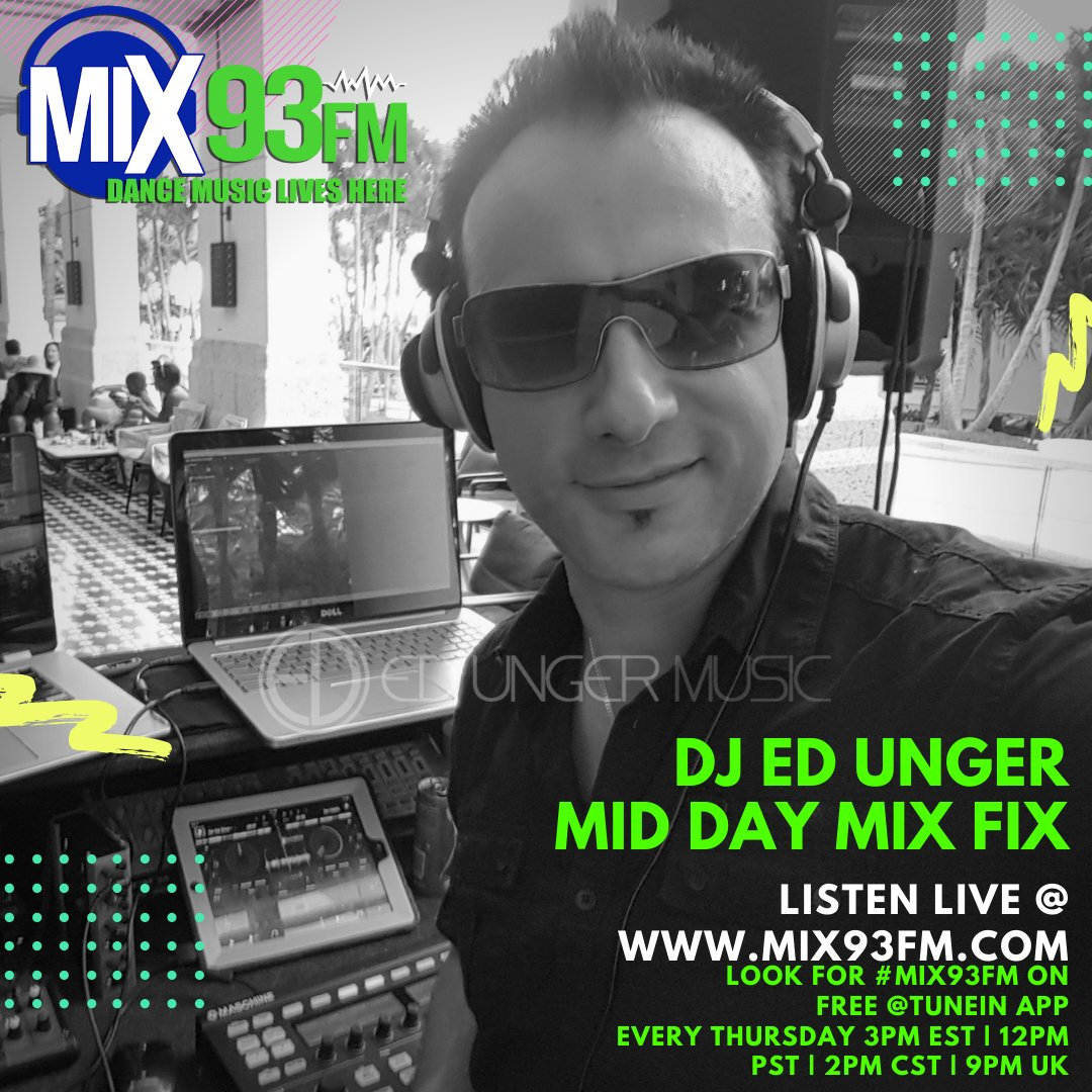 On Air In the Mix Today https://t.co/y6AkjvBZMh at 3pm EST, 12pm PST, 2pm CST, 9pm UK also use the @tunein app from anywhere around the Globe.   #InTHeMix #NowPlaying #BdsRadio #DanceRadio #OnAir #LosAngeles #Mix93fm https://t.co/OLplqT1QGV