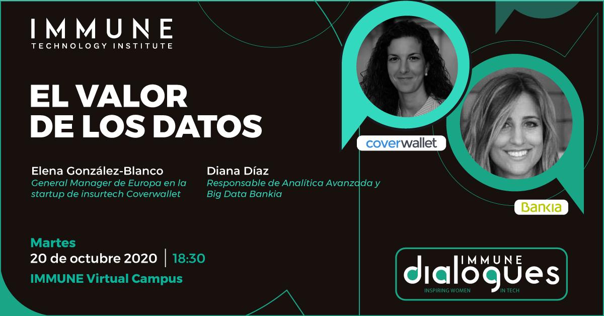 Mañana a las 18.30, @DianaDiazDD, responsable de Analítica Avanzada y Big Data de Bankia, participa en el diálogo 'El valor de los datos' donde expondrá su gran experiencia de cómo sacar partido a los datos con #IA en el sector financiero. ¡Apúntate 👉 https://t.co/VmXRebVUHJ!