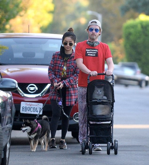 I am here for Macaulay Culkin walking his cat in a pram. https://t.co/SfPKJuAYAU