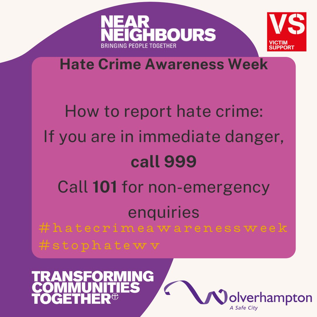 Hate Crime is any criminal offence that is motivated by an offender's hatred of someone because of their race, colour, ethnic origin or nationality, religion, gender/gender identity,sexual orientation or disability. This could be physical attacks, verbal abuse or threats. https://t.co/qrdoeKlIc3