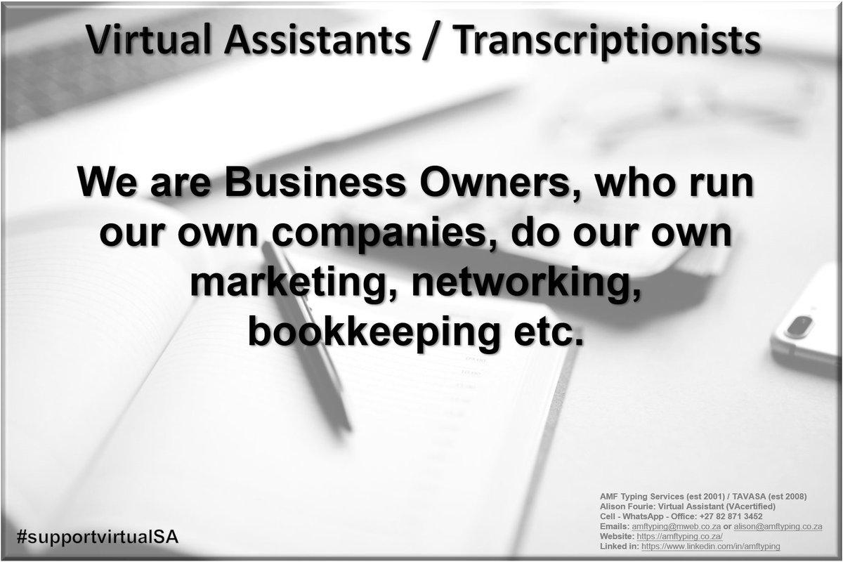 #business #businesservices #supportvirtualSA #virtualassistantsSA #SMEs #work #assistants #workflow #Directors #amftyping https://t.co/n7zmQe27pC https://t.co/8uwKZwEaz5