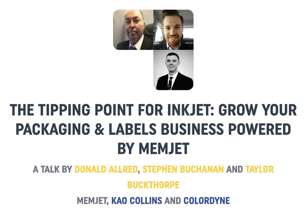 """If you missed """"The Tipping Point for Inkjet"""" session @IndPrintExpo where our own Donald Allred spoke with @ColordyneTech and @kaocollinsinc, check it out the recording below! https://t.co/2Z64vyQdK7 #packaging #PRINTING #TeamworkThursday"""