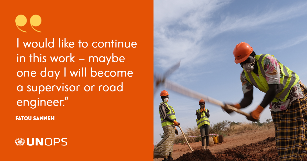 Together w/ the #EU, we helped rehabilitate +100km of rural roads in The Gambia!  The project has created jobs & new opportunities for +200 women 👉 https://t.co/FDnx3zCUmQ | #RuralWomen @europeaid https://t.co/eAI90bvTCZ
