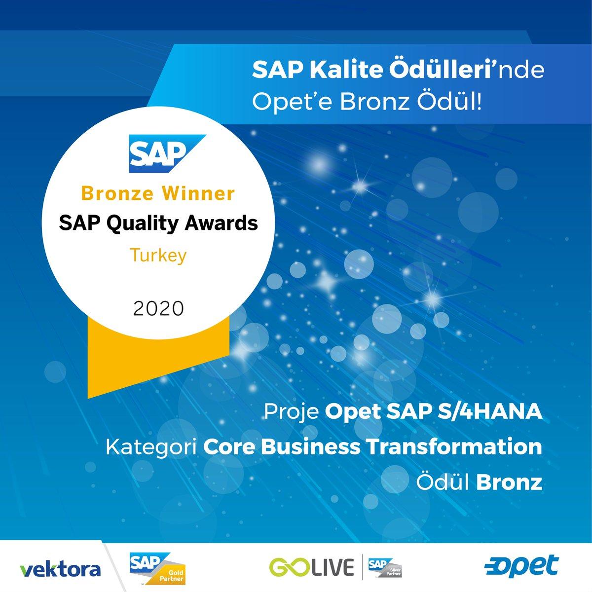 Yılın en başarılı dijital dönüşüm projelerinin ödüllendirildiği SAP Kalite Ödülleri'nde, SAP S/4HANA dijital dönüşüm projesiyle, CORE Business Transformation kategorisinde bronz ödülün sahibi olduk. https://t.co/cavMGCCAZu