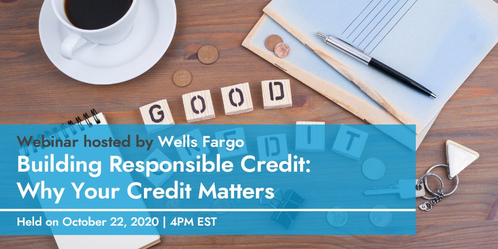 Today's the last day to register for @WellsFargo's #WFCBeyondCollege webinar tomorrow on growing and maintaining your credit! If you haven't already, register now to join an informative discussion on how to reach those personal financial goals!  Register: https://t.co/ivnZJZEnrX