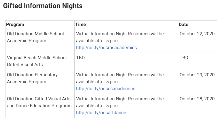 Are you interested in ODS? Please mark your calendars! More information can be found at vbschools.com/academic_progr…