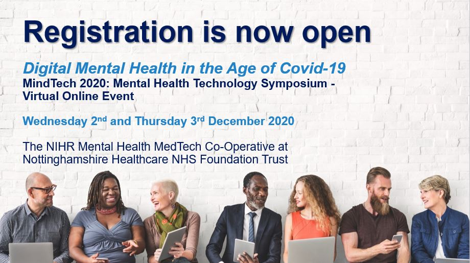 The 2020 MindTech Symposium will be held online as a free virtual event for the very first time on Wednesday 2nd and Thursday 3rd December. Find out more and register for free here: https://t.co/86jlia0nXt #MindTech2020 https://t.co/y1mNZIIqWH