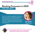 Image for the Tweet beginning: Reaching Consumers in 2020. @LilyHarder