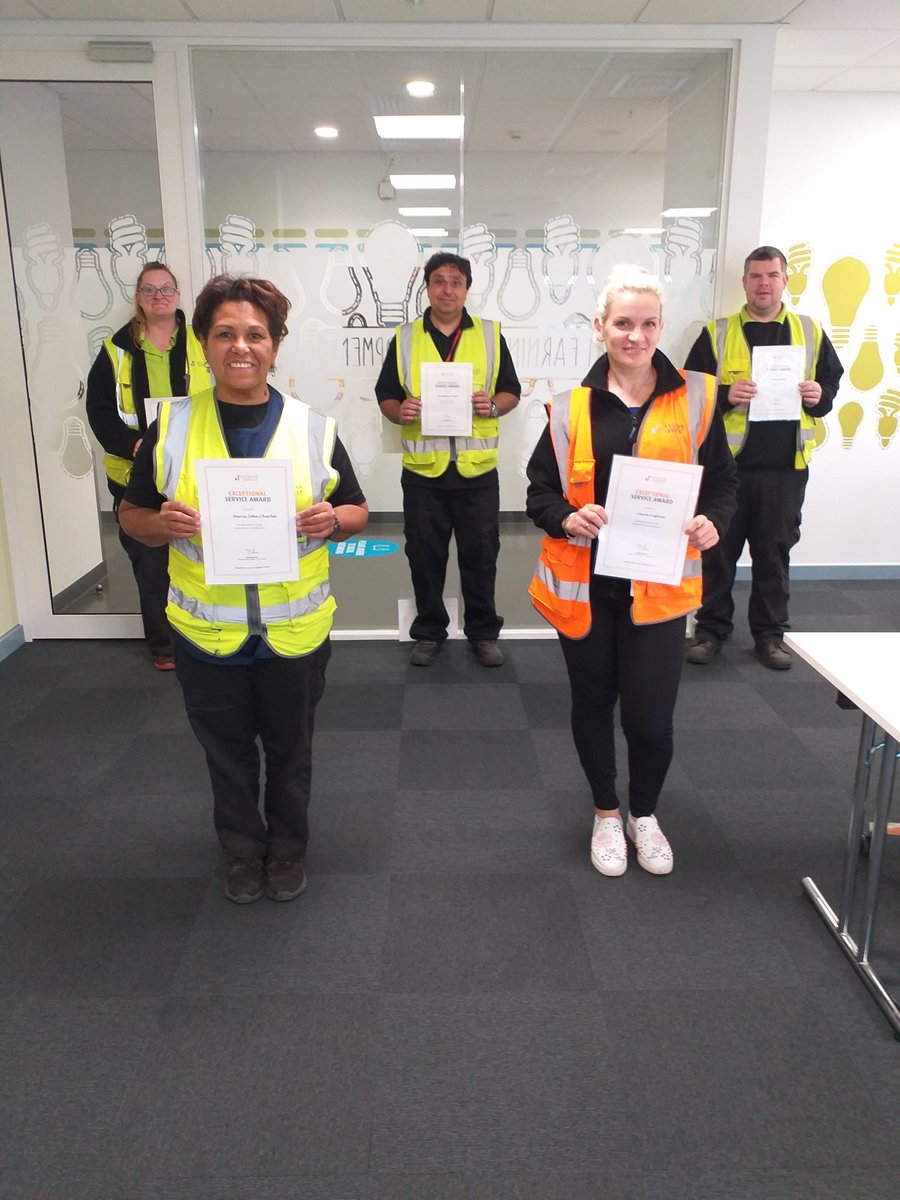More Exceptional Service Awards today to Team @Primark . A huge thank you and well done to Kim Turnell, Christopher Green, Jamie White, Maria  John Charles and Laura Liepina for going above and beyond.  @AtalianServest #logistics #rewardingexcellence