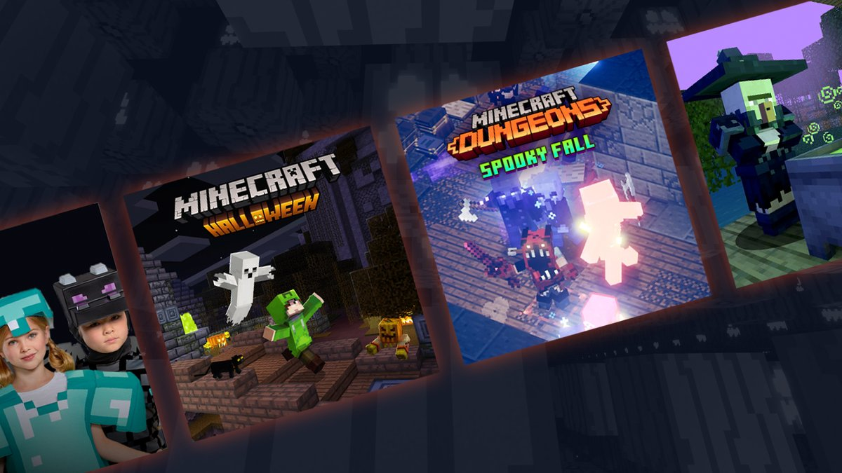 Spoooooky! From monstrous Marketplace content to pixel-perfect pumpkin stencils, and from printable mob masks to moonlit Minecraft Dungeons trials: here's everything we've got lined up for our most spooktacular Halloween yet! ↣ redsto.ne/spooky ↢