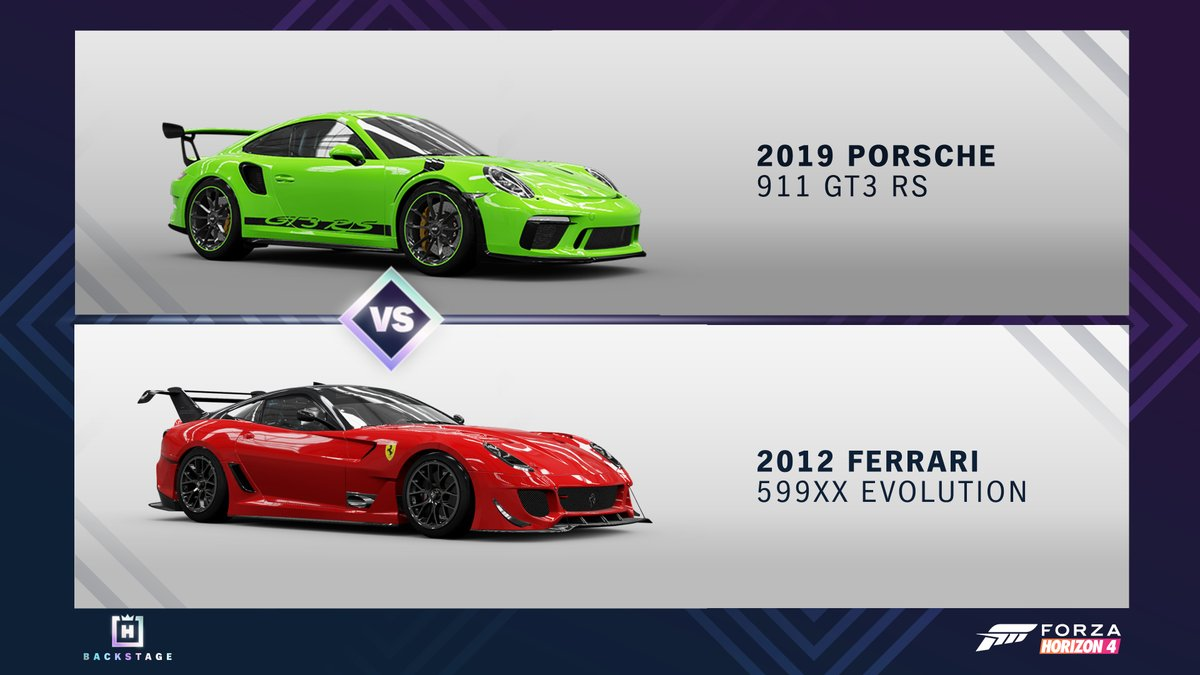 Forza Horizon On Twitter Poll 1 Is Live Jump Over The Horizon Backstage Now And Vote On Which Of These Cars Will Be Available Backstage