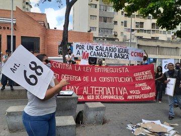 Trabajadores del Metro de Caracas protestaron por mejoras salariales