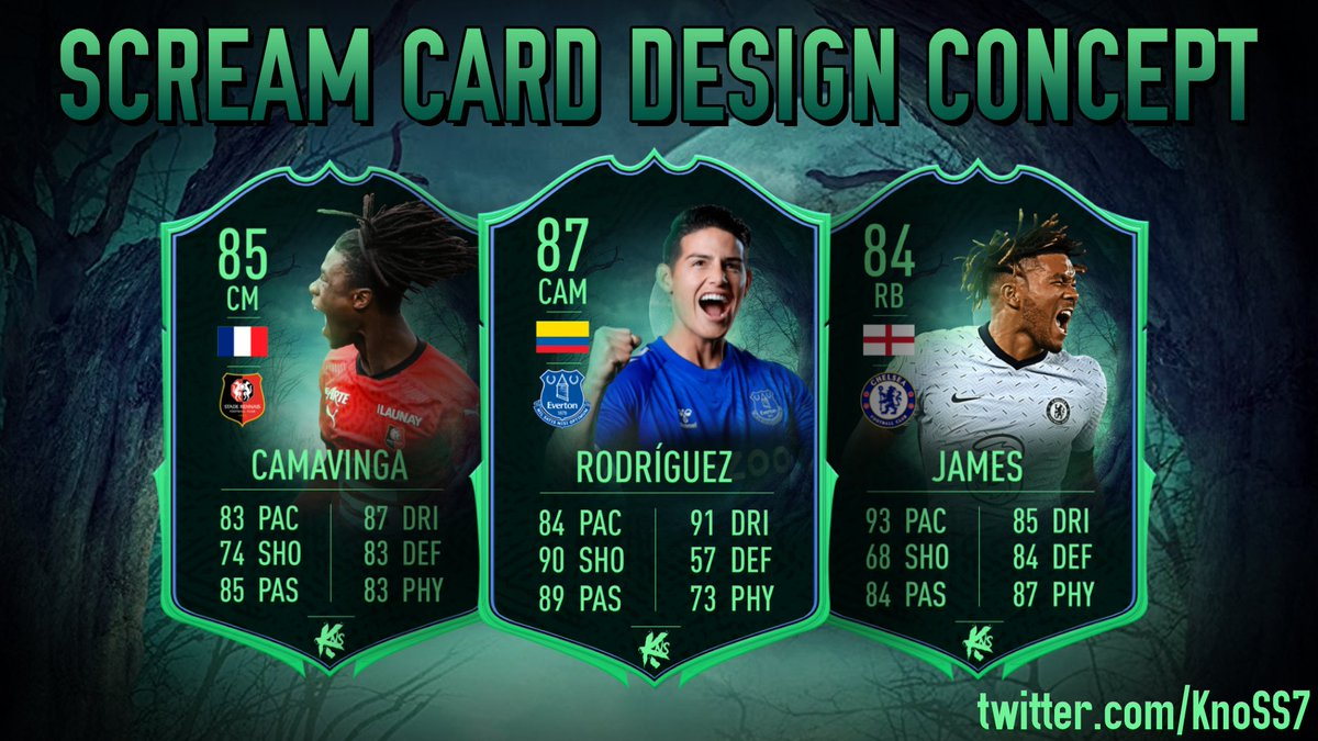Н—¸ðŸ³ Н—¸ð—»ð—¼ð˜€ð˜€ðŸ³ On Twitter Scream Card Design Concept In Fut21 What Players Do You Want To See In The Scream Promo Comment Down Below