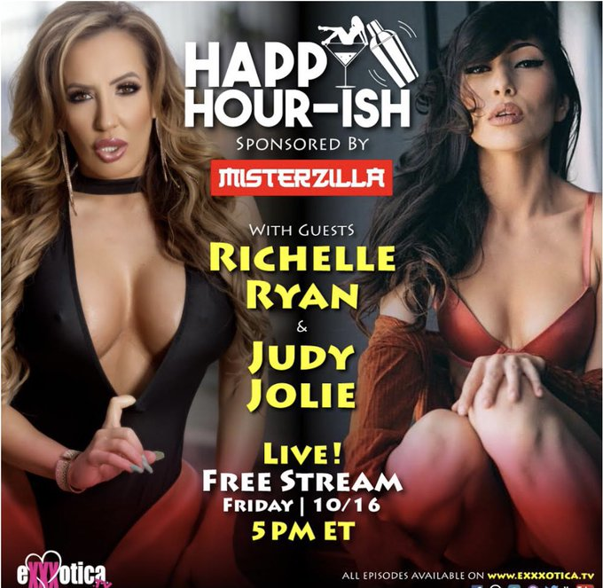Tomorrow I'll be live at 5pm EST on @EXXXOTICAtv @EXXXOTICA   Join me for a fun Happy hour 🍾 https://t