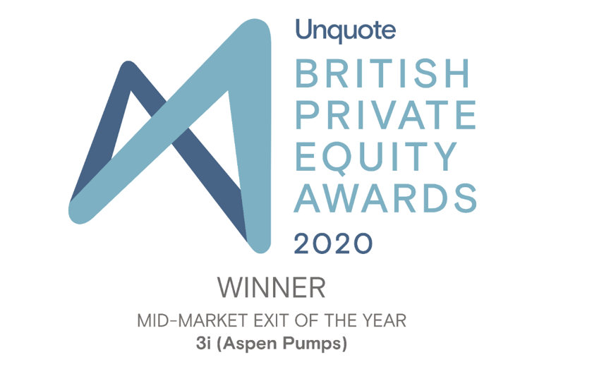 We're delighted to have won Mid-Market Exit of the Year at the @UnquoteNews British Private Equity Awards 2020 for our partnership with @aspenpumpsgroup. The award recognises successful deal origination, execution, portfolio management and exit: https://t.co/U1g1XB7fVe https://t.co/9z2f9Xlm9U