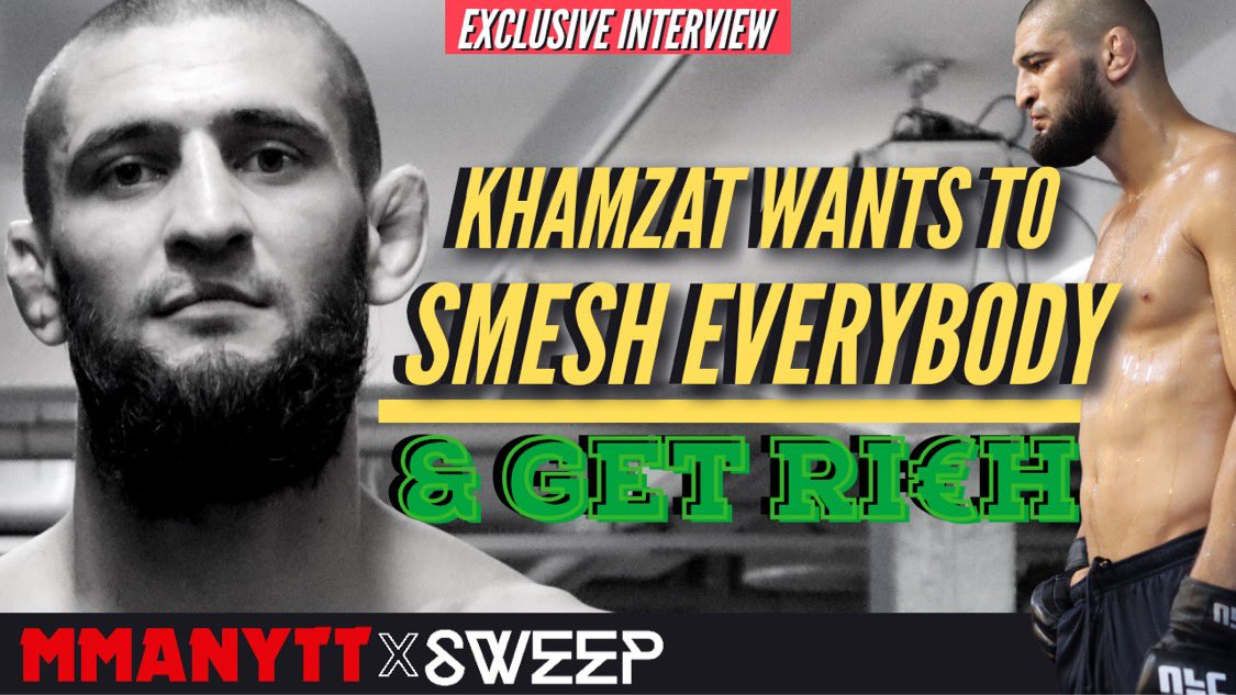 KHAMZAT CHIMAEV PLANNING TO GET RICH **Exclusive Q&A**  Full video ➡️ https://t.co/DuFNabKXC6 https://t.co/jNObWNpe0F