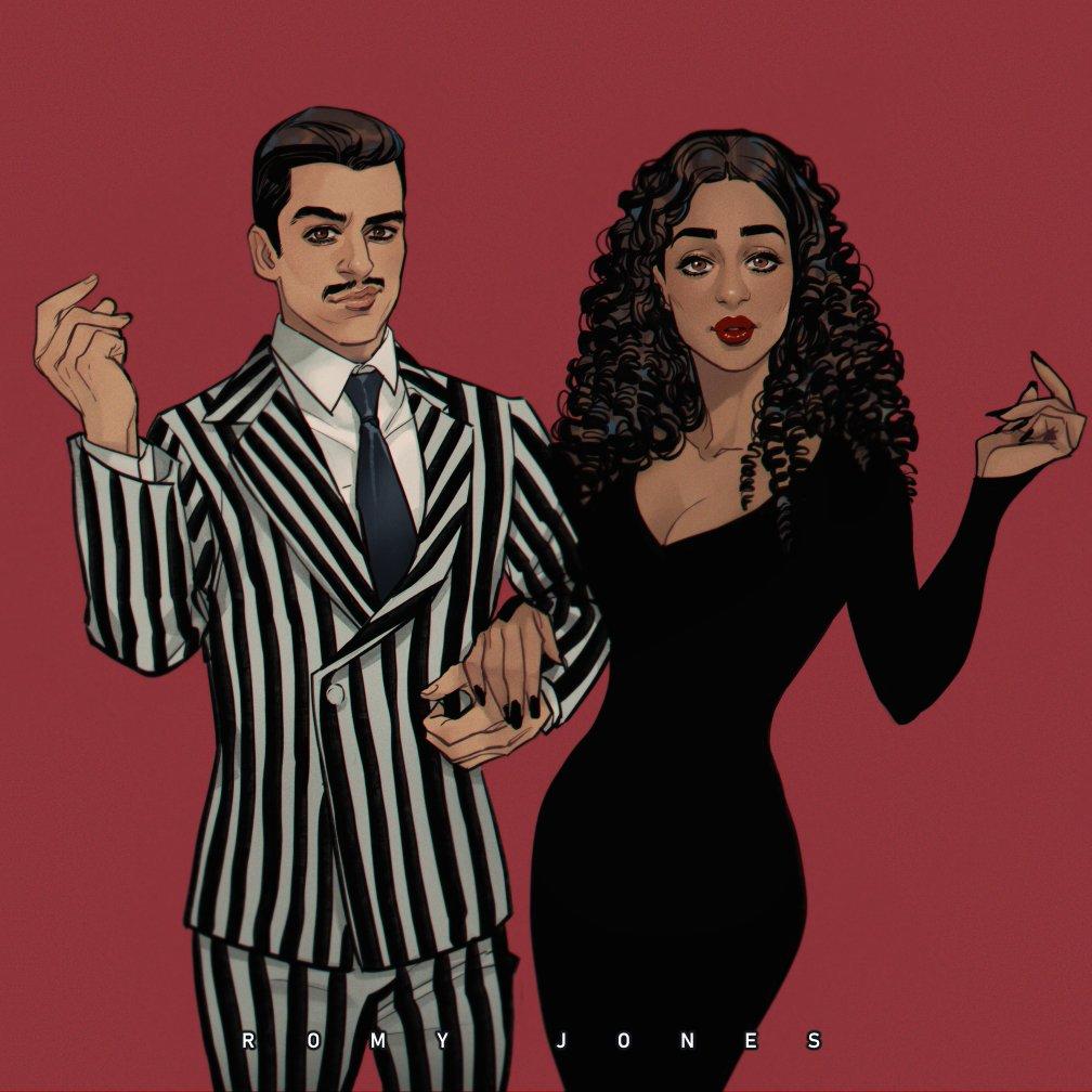 Ruth Negga and Oscar Isaac as Morticia & Gomez Addams ✨