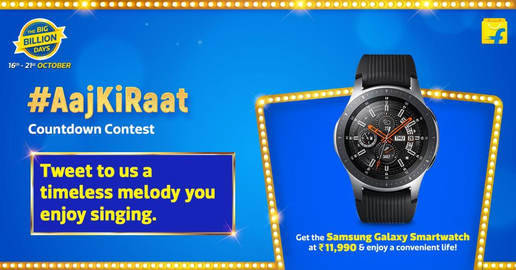 ⭐#AajKiRaat Contest⭐  It's almost time for India's biggest sale to go LIVE 🥳 Here's your chance to grab exciting shopping vouchers 🥰!   TASK 2:    Tweet to us a timeless song you like singing, as you countdown to India's biggest Sale.