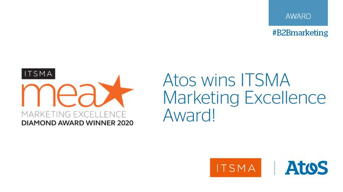 Very proud to have won an @ITSMA_B2B Marketing Excellence Award for 'Winning New Business...
