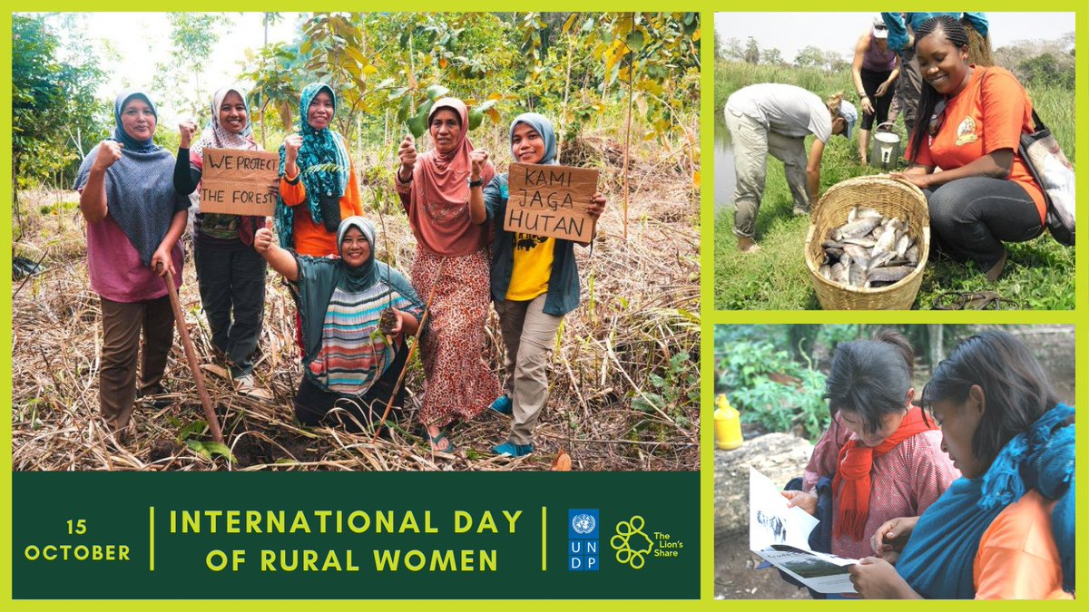 Empowered #RuralWomen are at the frontlines #ForNature tackling #Biodiversityloss and #ClimateChange by protecting #forests and #wildlife. Through #TheLionsShare, brands can join forces and be part of the solution to the nature and climate crises and #COVID 19 recovery. JOIN US. https://t.co/8acg5B8YSl