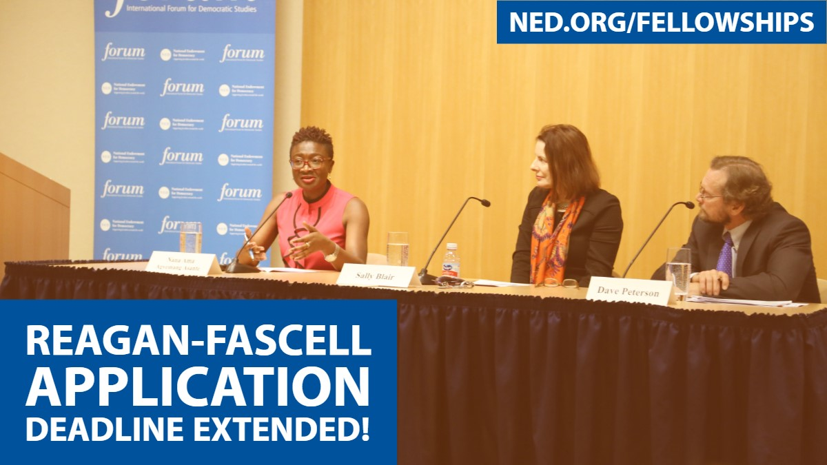 Are you an activist, journalist, civic leader, or scholar with a commitment to democracy? Don't miss out on  @NEDemocracy's  extended deadline for their Reagan-Fascell Democracy Fellowship and apply today! https://t.co/8g3km201Oi