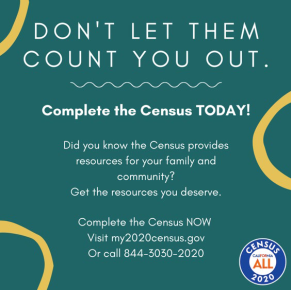 Time is running out! You can complete your #2020Census today by going online to https://t.co/sYs1pdIMNv until 3:00 am PST, October 16, by phone until 11:00 PM PST October 15 or by paper questionnaires that must be postmarked by October 15, 2020. #BeCounted https://t.co/3J6OcO9bgE