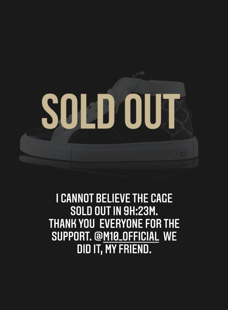 The Cage! @HideandJack x M10 #soldout in 9h  #MesutOzil