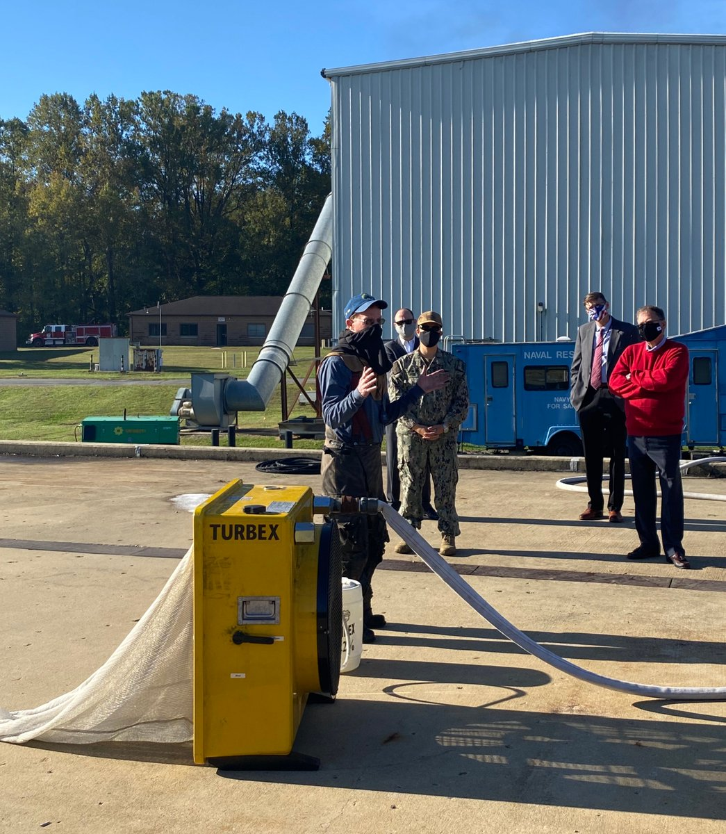 This morning I visited @USNRL for an AFFF demonstration as the @USNavy continues to seek a flourine-free formula that effectively extinguishes fires and safeguards our #environment. Keep up the great work!