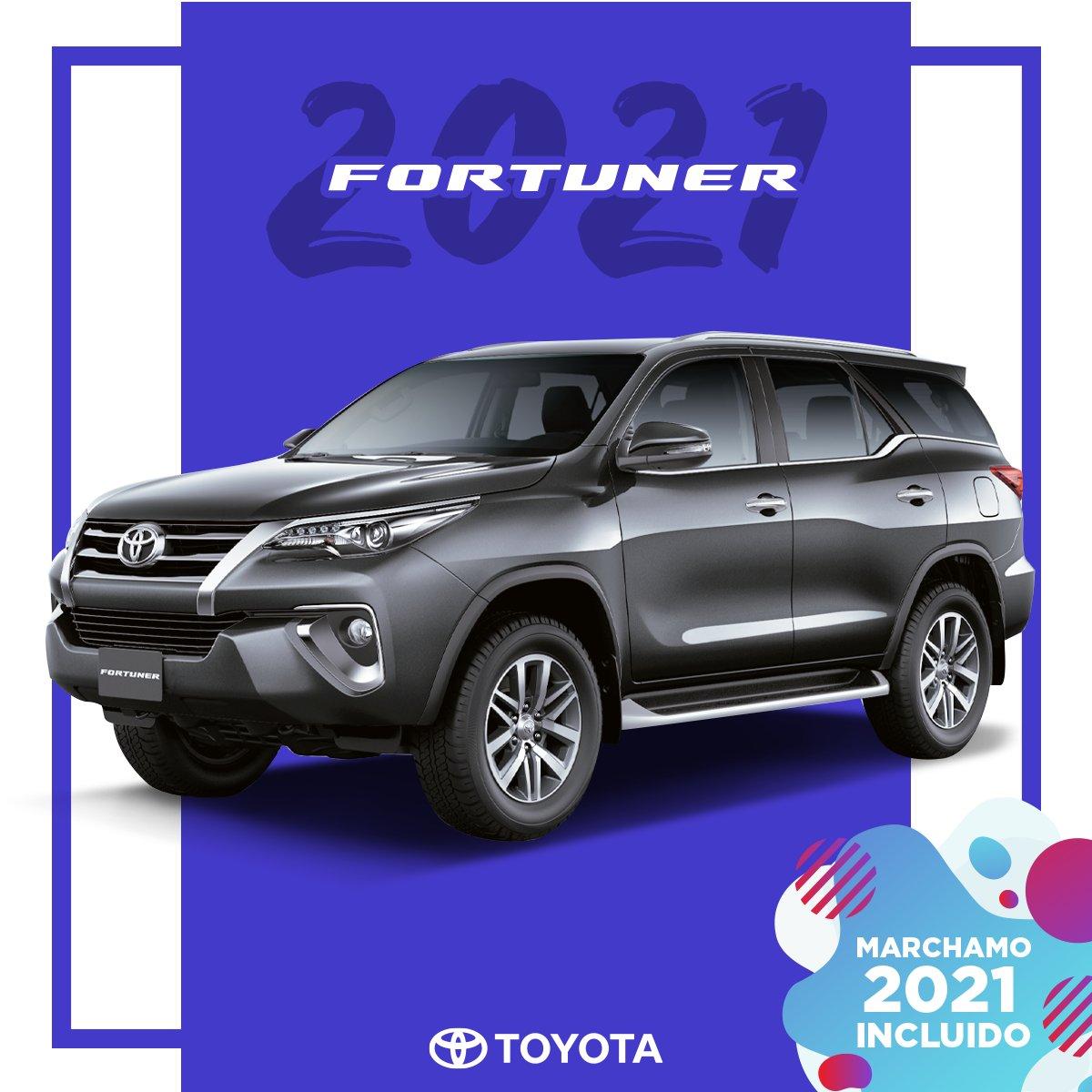 Llevate tu Fortuner 2021 con marchamo incluido y disfrutá de un verdadero 4x4 Toyota.  Contactá un asesor por medio de nuestro Whatsapp: 8589-1000 o https://t.co/wEoya9vnSE   #Toyota #Fortuner https://t.co/L2q0Eoo9QA